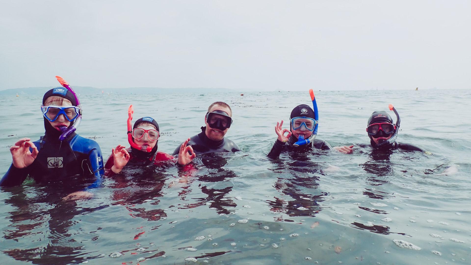 Snorkel Safari session in Plymouth Sound