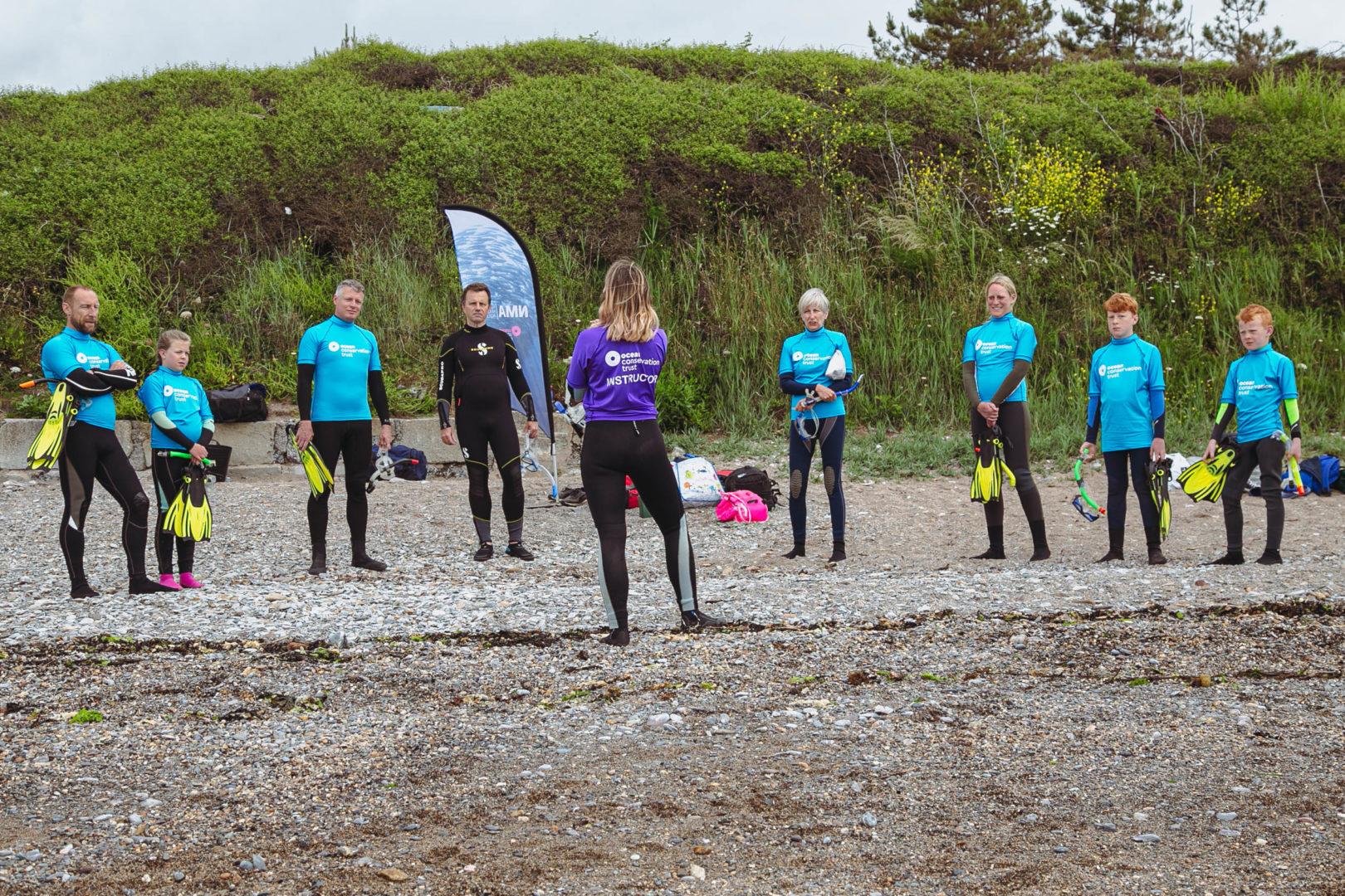 snorkel safari on mount batten beach